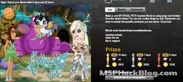 mythical pets competition